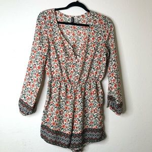 H&M Divided Multicolored Floral Romper